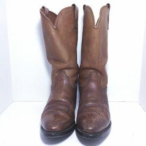 Durango Brown Leather Men Western Boots Sz9.5